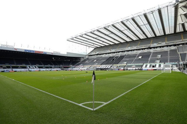 General view inside the stadium prior to the Premier League match between Newcastle United and West Ham United at St. James Park on April 17, 2021 in Newcastle upon Tyne, England.