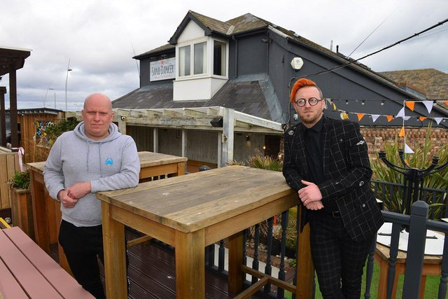 Edd Hilton from The Sandancer, left, and Stephen Sullivan from Ziggy's at The Sand Dancer, South Shields.