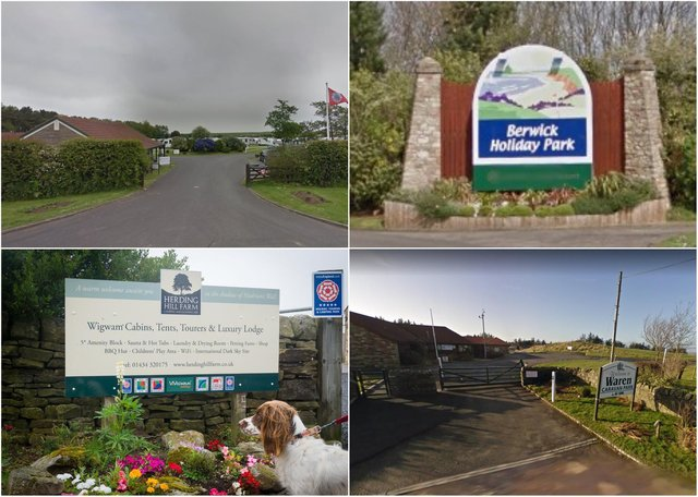 Northumberland camping and caravanning sites.