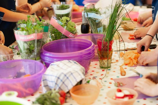 Cooking lessons and nutritional meals are part of what's on offer to children.