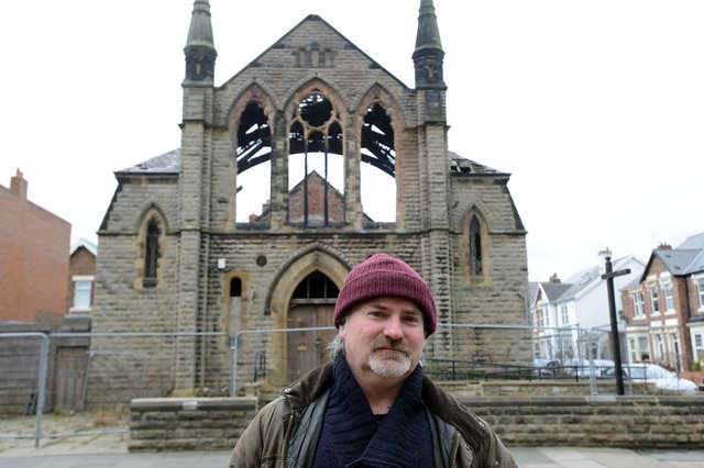 Historian Ged Lynn has spoken out against the proposed demolition of the former Methodist Church on Bede Burn Road. Picture by Stu Norton.