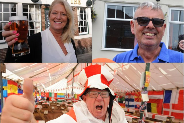 Clockwise from top left: Lesley Hunter of the Lord Nelson, Lee Hughes at the Red Hackle and Norman Scott of Dougie's Tavern.