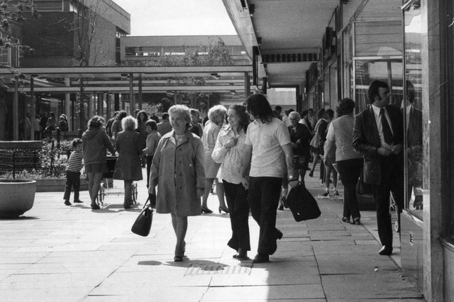 It's summer in 1973 and this is the scene at Jarrow shopping centre. Do you remember those days?