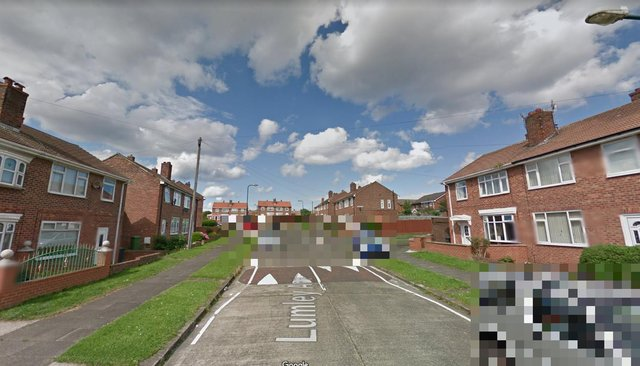 The incident happened in Lumley Avenue, South Shields.