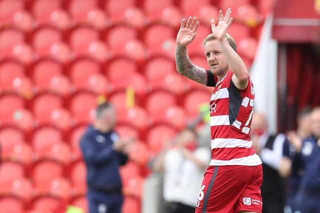 James Coppinger leaves the field for the final time.