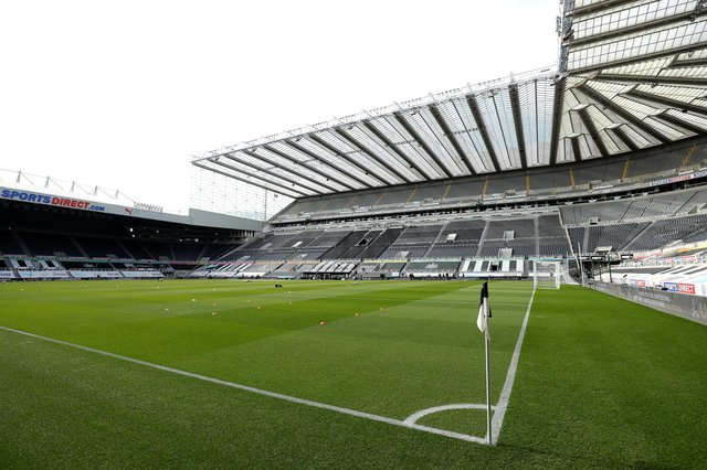 General view inside the stadium prior to the Premier League match between Newcastle United and West Ham United at St. James Park on April 17.
