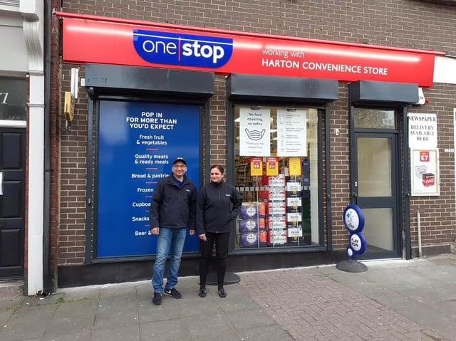 Franchisees Dhaval Kuhadiya and Bhavna Kuhadiya at the new One Stop shop in Harton village