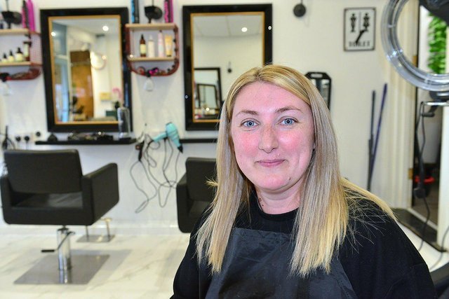 Sinead Clayton, owner of The Hairdresser On The Corner in South Shields.