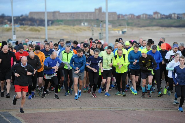 A previous South Shields Parkrun gets underway.