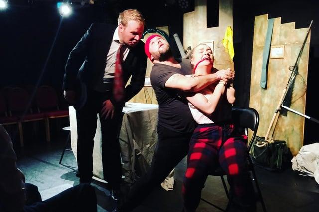 Wayne in The Big Time at the Edinburgh Fringe