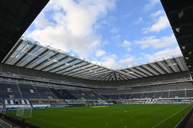 Newcastle United and Tottenham Hotspur face each other at St James's Park in the Premier League.  (Photo by PAUL ELLIS/POOL/AFP via Getty Images)