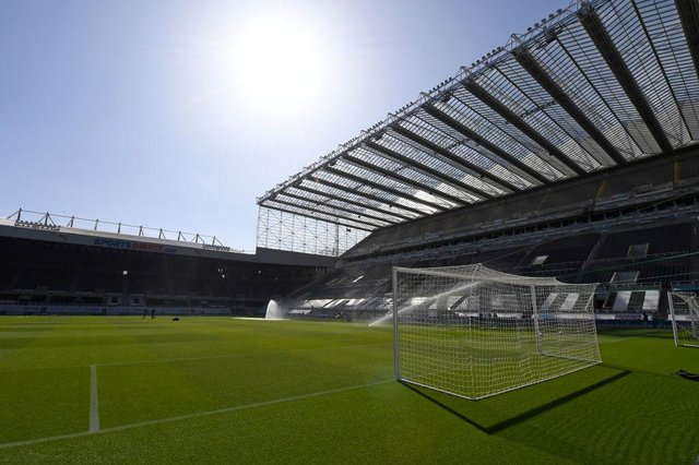 St James's Park, home of Newcastle United.