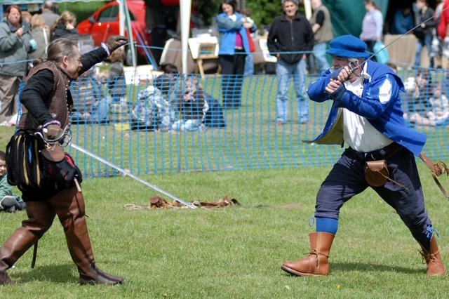 The medieval fair which was part of the 2011 Jarrow Festival. Were you there?