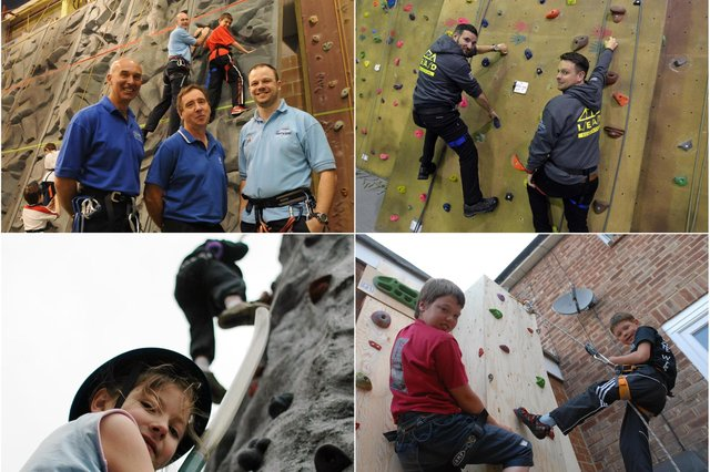 You had fun on the climbing wall and we loved capturing the moment for our archives. See if you can spot a climber you know.