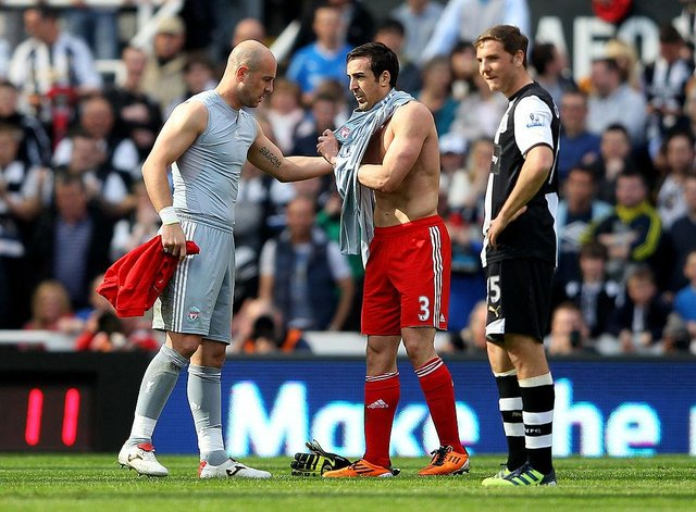 Jose Enrique played the final 10 minutes in goal on his return to St James's Park with Liverpool. (Photo by Alex Livesey/Getty Images)