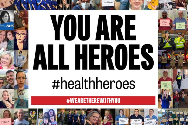 Here's a roundup of the photos you've sent us of our amazing NHS staff and key workers