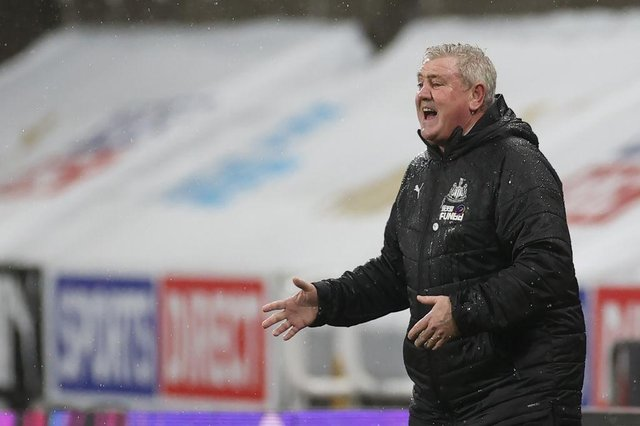 Newcastle United head coach Steve Bruce. (Photo by LEE SMITH/POOL/AFP via Getty Images)