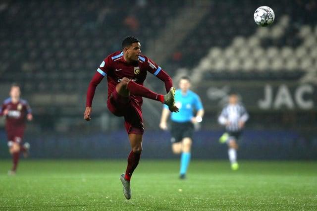 Danilho Doekhi of Vitesse Arnhem in action.