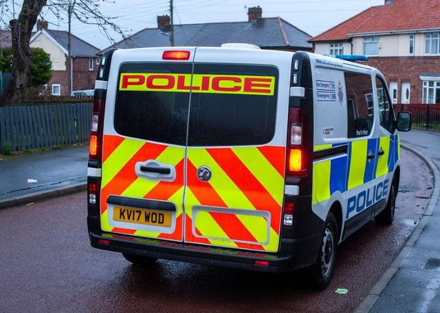 Northumbria Police said its officers were at the incident in four minutes after seven calls reporting the incident in Jarrow town centre.