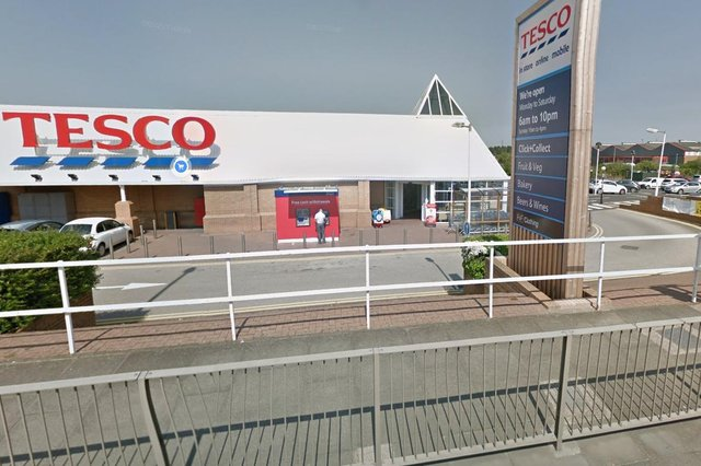 Robert Raine, 25, followed the man into Tescoat Simonside, South Shields, after they were involved in an incident on a roundabout moments earlier, a court heard.