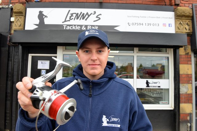 Lenny's Tackle & Bait fishing shop owner Lenny Davis at his new shop on The Nook.