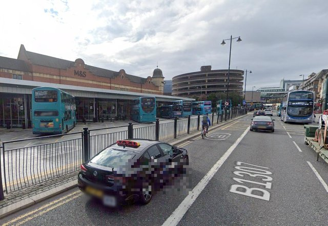 The incident happened at Haymarket bus station in Newcastle