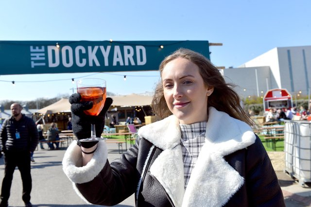 The Dockyard sales manager Kyrie Geach following easing of lockdown measures on the hospitality sector.