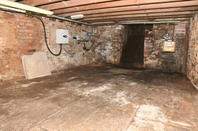 Undated Gloucestershire Police handout photo of the cellar of the Clean Plate cafe in Southgate Street, Gloucester. The photo, which has been released by police, is the site where missing teenager 15-year-old Mary Bastholm, suspected of being a victim of serial killer Fred West, may be buried. Issue date: Thursday May 20, 2021.