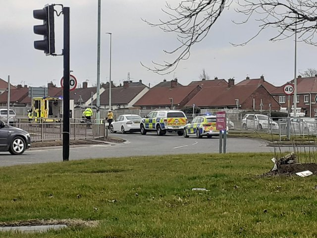 Emergency services attended the scene on John Reid Road, South Shields.