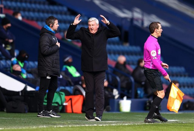 Newcastle United head coach Steve Bruce said it was important not to lose against West Brom. (Photo by Michael Steele/Getty Images)