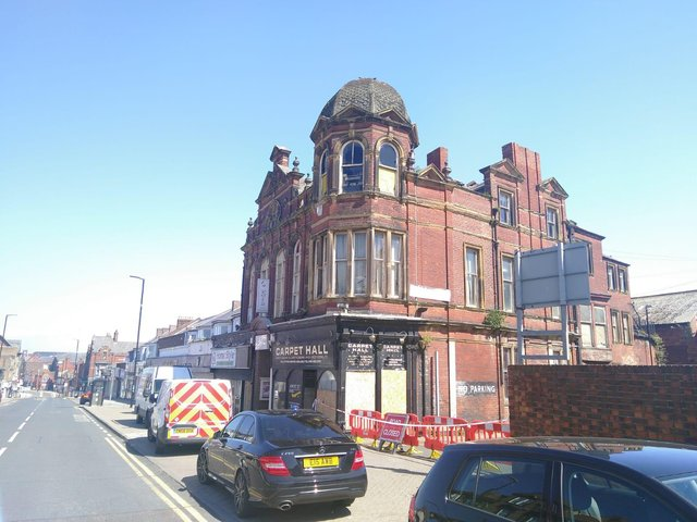 The Victoria Hall the day after the blaze