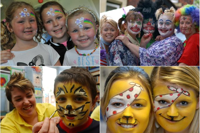 Lots of face painting scenes but can you spot someone you know?