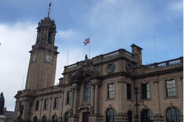 The Union Flag is flying at half mast in tribute to the Duke of Edinburgh, who has died aged 99