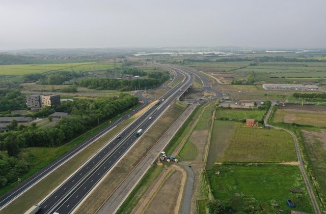 Highways England has shared drone photos taken after the new stretch of A19 opened above Testo's Roundabout at Boldon.