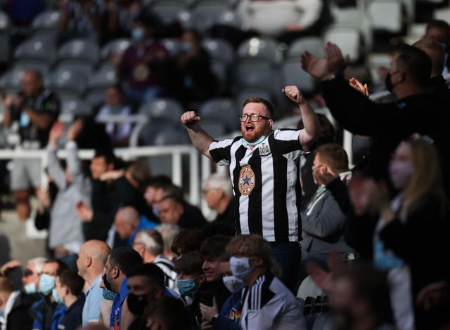 Newcastle United fans show their support against Sheffield United last month.