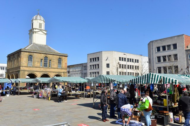 The first South Shields market following easing of lockdown.