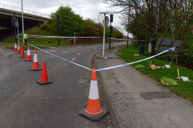 The eastbound slip road from the A184 onto the A194 was cordoned off on Saturday, April 3.