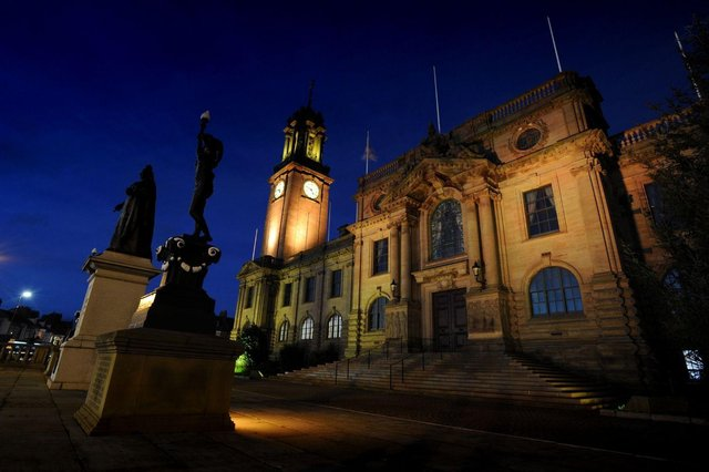 South Shields town hall will be lit yellow as part of the day of reflection