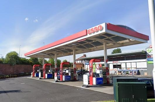 The defendant was approached by police at the petrol station in York Avenue