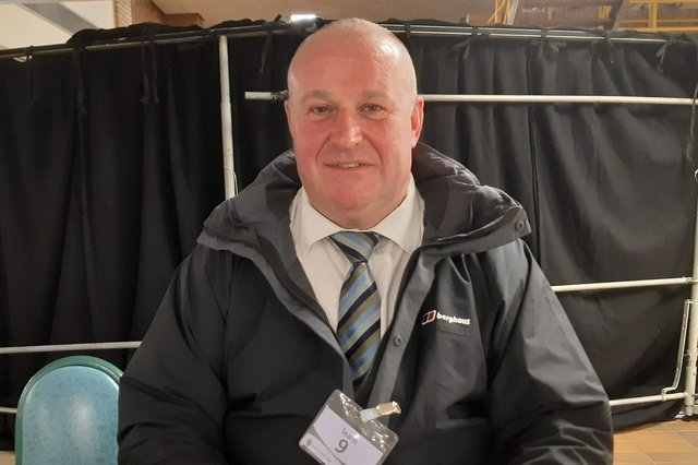 Councillor David Kennedy on election night, after claiming a seat in the Primrose ward from Labour