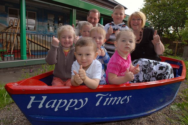 Happy times at Clervaux Nursery in Jarrow in 2008 with the children, governors and staff all looking cheerful. Who can tell us more about the occasion?